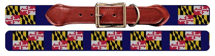 Maryland Flag Needlepoint Dog Collar   NeedlePaint