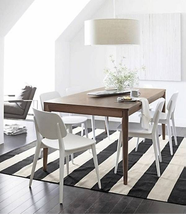 stripey mat underneath white chair, for patio? get plain mat and paint stripes, use my white chairs