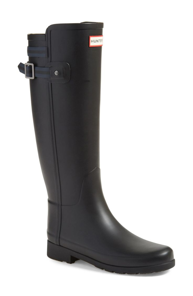 Fitted Hunter black rain boots