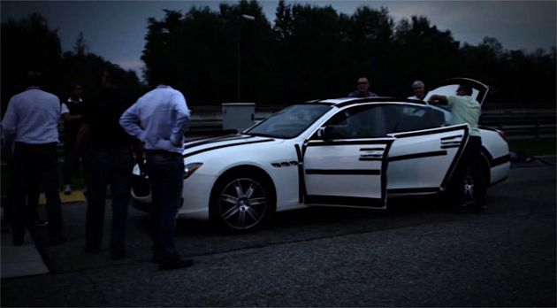 Maserati 2014 Quattroporte Night Testing Session