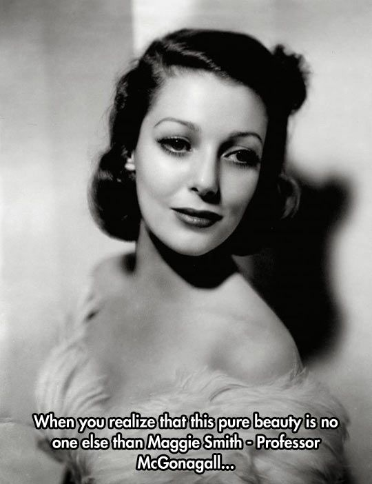 She Was A Real Beauty!!!! This is Loretta Young not as posted Maggie Smith!!!!!!!