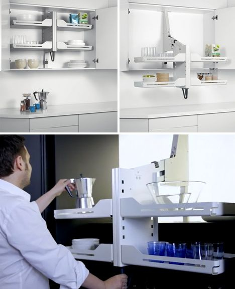 Smart Self-Closing Space-Saving Organizer Systems Just genius! No more stretching and losing stuff at the back