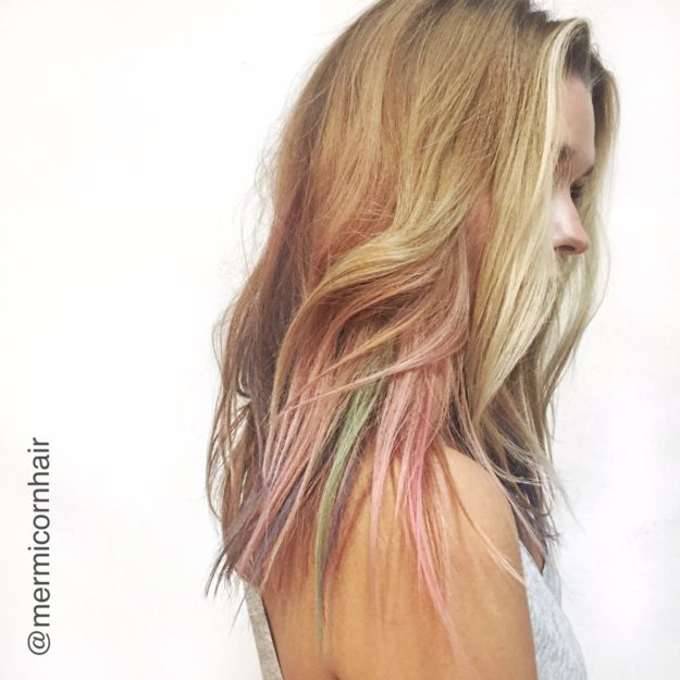 To give you that super beautiful soft gradient effect. | This New Hair Dyeing Technique Will Actually Give You Mermaid Hair