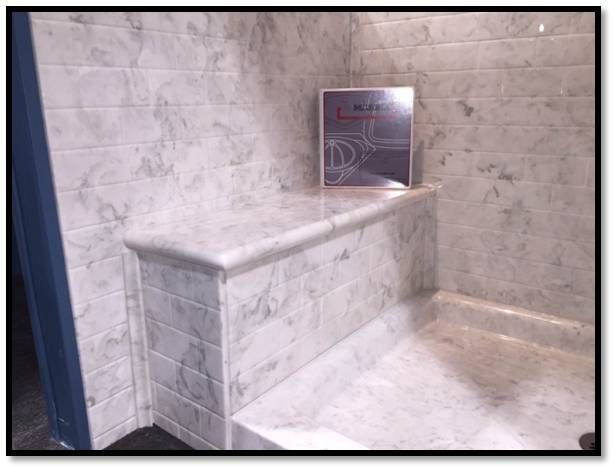how to build a neo-angle shower with bench