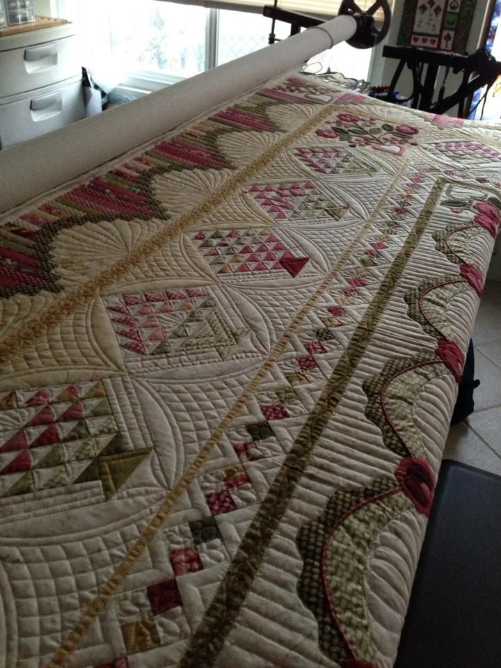"I love her work...incredible..lovely...and so well thought out....     Longarm quilting by Pam Dransfeldt your ""Joyful Quilter"""