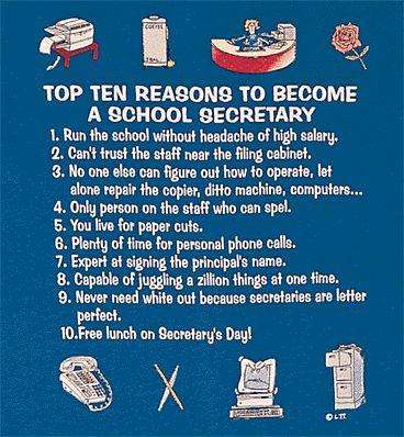 Top 10 Reasons to Become a School Secretary