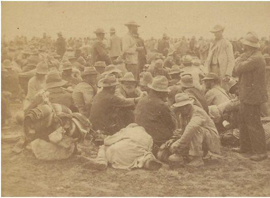 Boer prisoners after the Battle of Paardeberg
