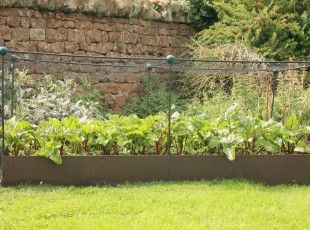 Netting frames can be easily attached to the EverEdge EasyBed, protecting your flowers, herbs or plants from pests