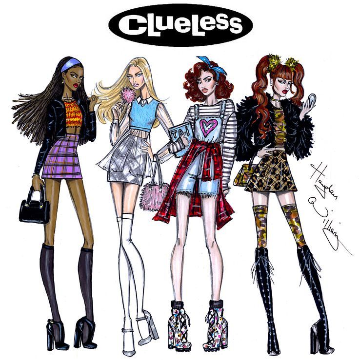 Hayden Williams Fashion Illustrations : Clueless collection by Hayden Williams