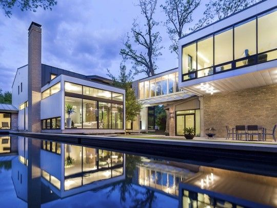 Old Highland Park Meets Sleek New Design In This Award Winning Modern Home At 3601