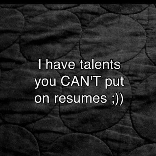 dirty resume jokes