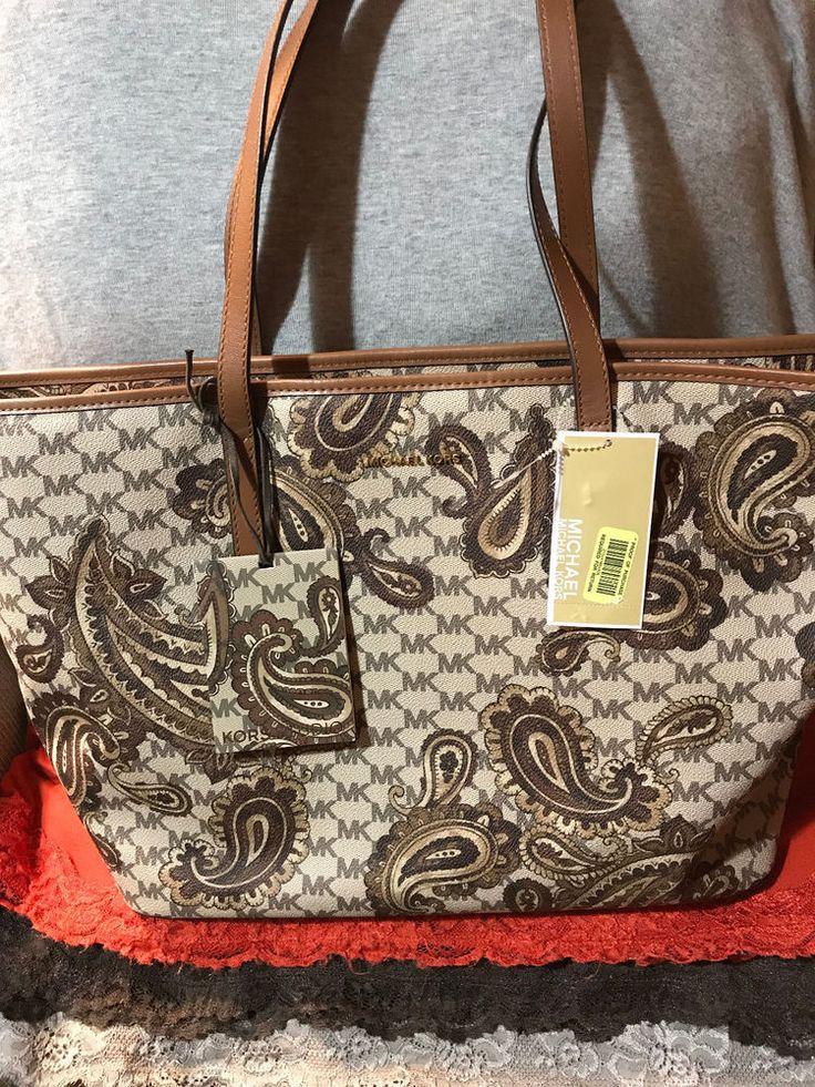 REDUCED FABULOUS Handbag Michael Kors Luggage Studio Emry PVC Paisley SIG Zip Tote & Shopper @eBay buy now w.freeship @GIFT