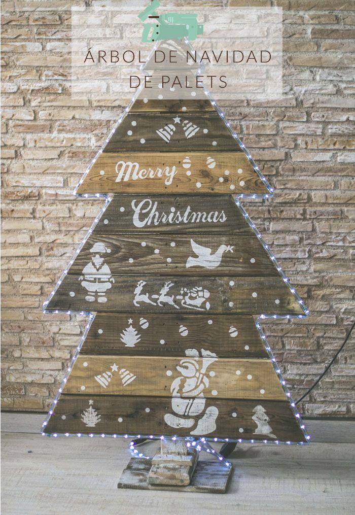 arbol de navidad de palets