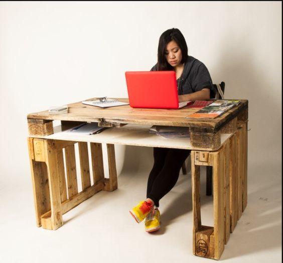 Schreibtisch selber bauen paletten  Die 25+ besten Ideen zu Schreibtisch aus Paletten auf Pinterest ...