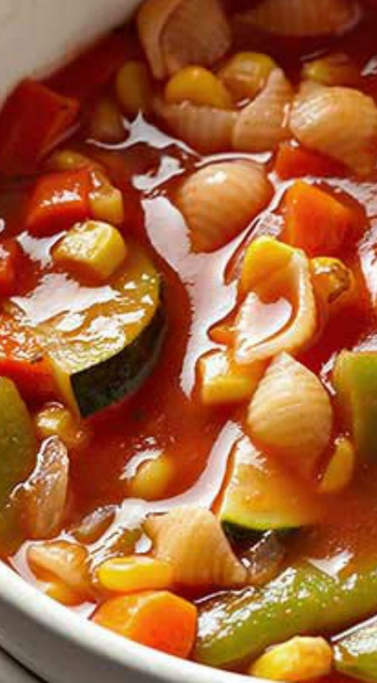 Italian Vegetable and Pasta Soup ~ Jam-packed full of delicious nutrient-rich veggies.