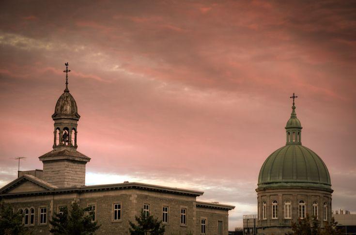 Pink sky over Religieuses Hospitalières de Saint-Joseph