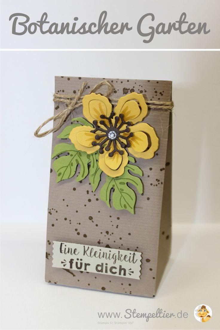 botanischer garten botanical garden frühjahr sommer 2016 stampin up stempeltier geschenktüte falzbrett punchboard verpackung verpacken
