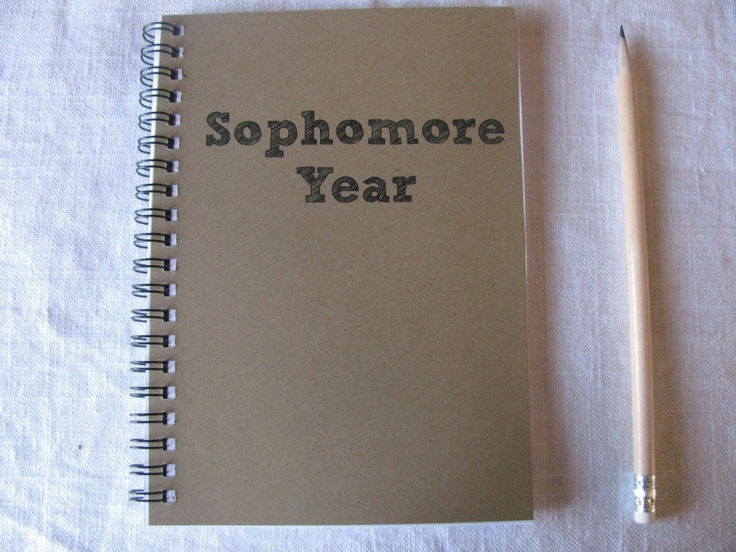 Sophomore Year  5 x 7 journal by JournalingJane on Etsy, $6.00