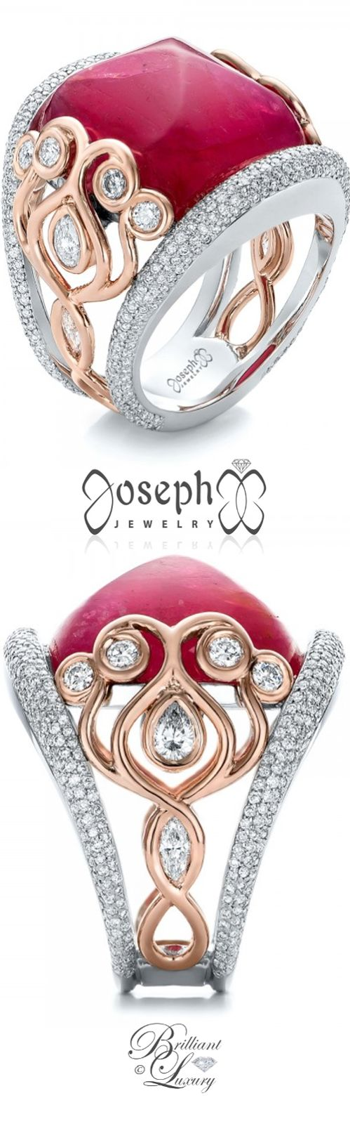 Brilliant Luxury by Emmy DE ♦Custom Spinel and Pave Diamond Anniversary Ring
