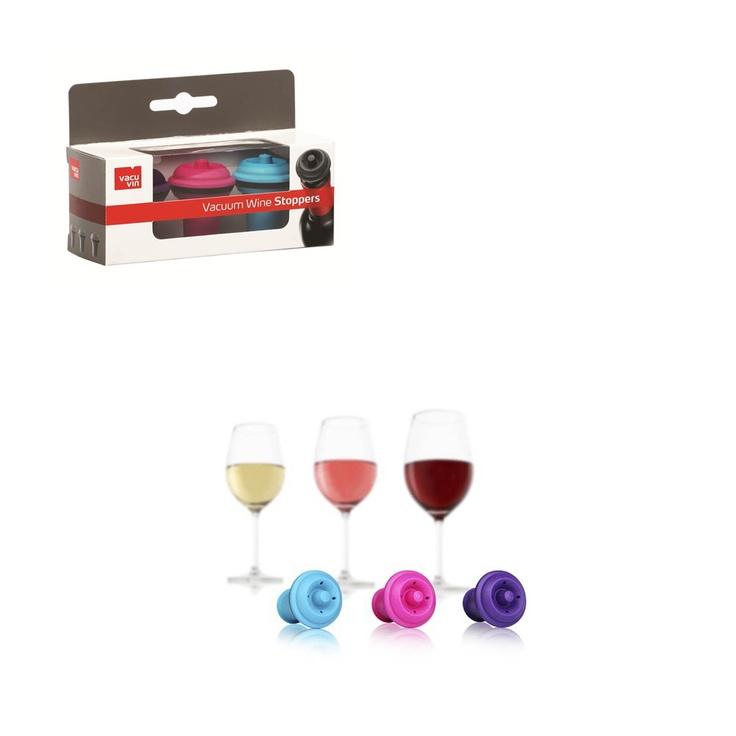 Vacuvin Wijn Stoppers Set van 3 - Gekleurd