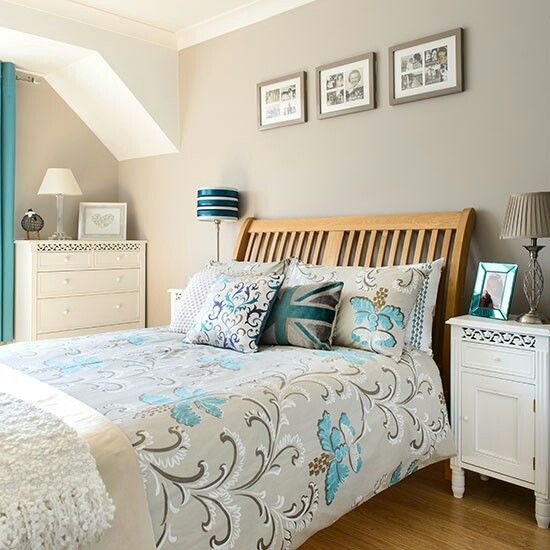 Perfect Love The Wall Colour With White Furniture. Beige, White, Turquoise And Teal.