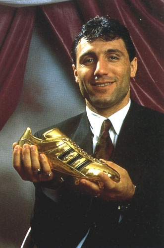 Hristo Stoichkov is a retired Bulgarian footballer who is currently a football commentator for Univision Deportes. A prolific forward, he is regarded as one of the best players of his generation and is widely considered the greatest Bulgarian footballer of all time. He was runner-up for the FIFA World Player of the Year award in 1992 and 1994, and received the Ballon d'Or in 1994. In 2004, Stoichkov was named by Pelé in the FIFA 100 list of the world's greatest living players.