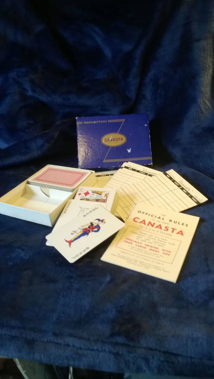 Vintage Canasta Game, Card Game, Playing Cards, Score Cards, Waddingtons, 1950s, Double Pack, Card Deck, Vintage Toys and Games, Retro Cards by TillyofBloomsbury on Etsy