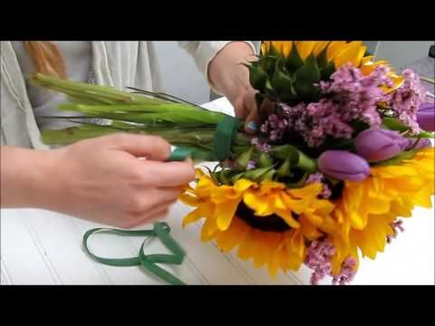 Sunflower Series: How to Make a Sunflower Bouquet - YouTube
