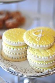 yellow cookies