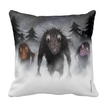 Three cute trolls on a fabulous luxury pillow, snuggle up next to a cute troll! Great for Interior Design fans and designers, geeks and nerds! Find Strange Store on Google+ More dogs and cats and crows and steampunk and dark and scary goings on at Strange Store from Paul Stickland #trolls #troll #funny #monster #humor #paul #stickland #strangestore #halloween #good #luck #interior #design #fashion #gothic #interior #accessories #illustration #strange #store #legends