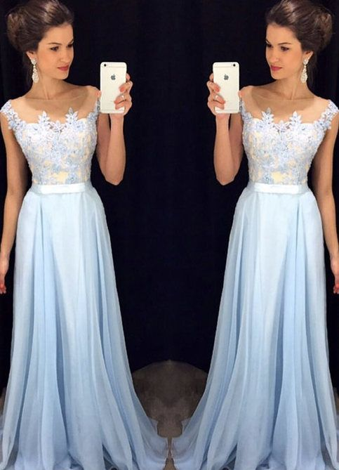 Long Prom dress Floor length Prom Dresses