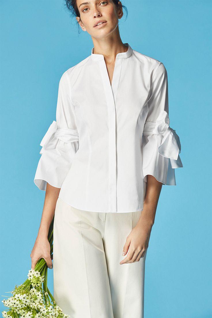 White Shirt CH Carolina Herrera | Women SS 2017 White Shirt CH Carolina Herrera