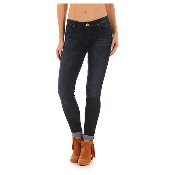 Women's Wrangler Retro Sadie Skinny Jean (130 CAD) ❤ liked on Polyvore featuring jeans, super stretch skinny jeans, skinny jeans, low rise jeans, skinny fit denim jeans and low rise stretch jeans