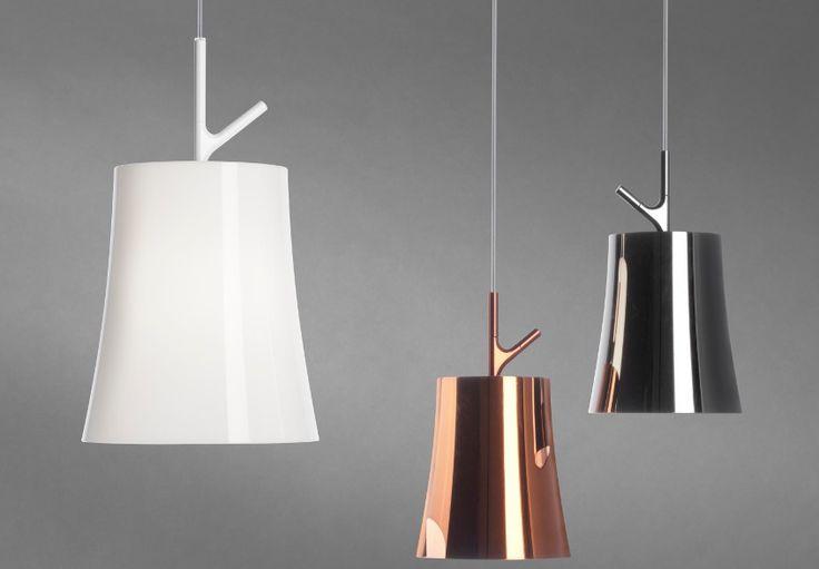 De hanglamp Birdie van Foscarini. Ontworpen door udovica+roberto palomba.