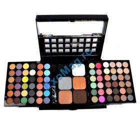 Trusa machiaj 78 culori Deluxe MET - Farduri + Blush + LipGloss + Corector + Aplicatoare + Oglinda - http://exomag.ro/Truse-de-machiaj-Blush-farduri-eyeshadow-eyeliner-lipgloss/trusa-machiaj-78-culori-deluxe-met-farduri-blush-lipgloss-corector-aplicatoare-oglinda.html