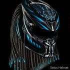 TOP International predator helmet custom - DOT approved Size S-L-M-XL