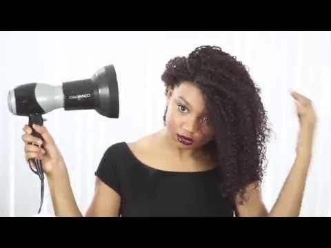 How to Shingle Hair (Alternate Wash and Go Method) - YouTube