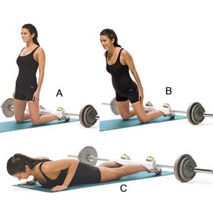 I LOVE this move: glute-ham Don't have a barbell at home? Try tucking your heels under a bed frame or couch.