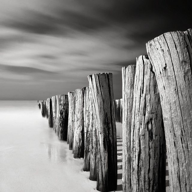 Amazing photo done with long exposure and nd filter monochrome photographyblack white