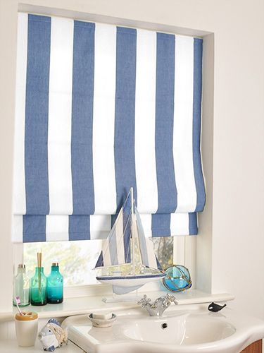 1000 images about themes coastal on pinterest roller for Blue and white striped bathroom accessories