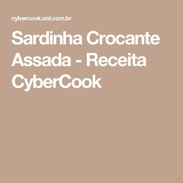 Sardinha Crocante Assada - Receita CyberCook