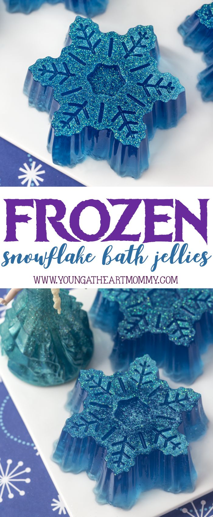 I am proud to be working with Suave Kids. #SuavePartner. Make your child's bath time routine magical with Suave Kids® Disney collections and these sparkly FROZEN inspired snowflake bath jellies!