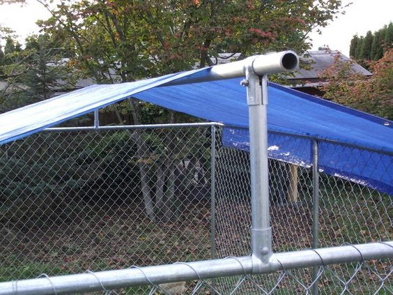 Make your own dyi dog kennel roof cover