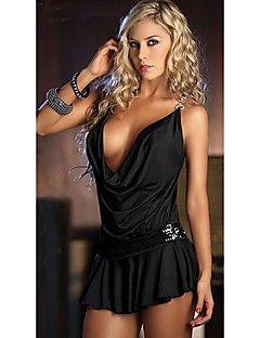 Correa mini vestido de lentejuelas dulces de la Mujer – GBP £ 7.29