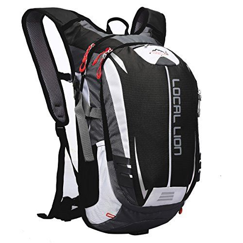 Local Lion Outdoor Sports Hiking Daypack Cycling Backpack Unisex Black -- Learn more by visiting the image link. Note:It is Affiliate Link to Amazon.