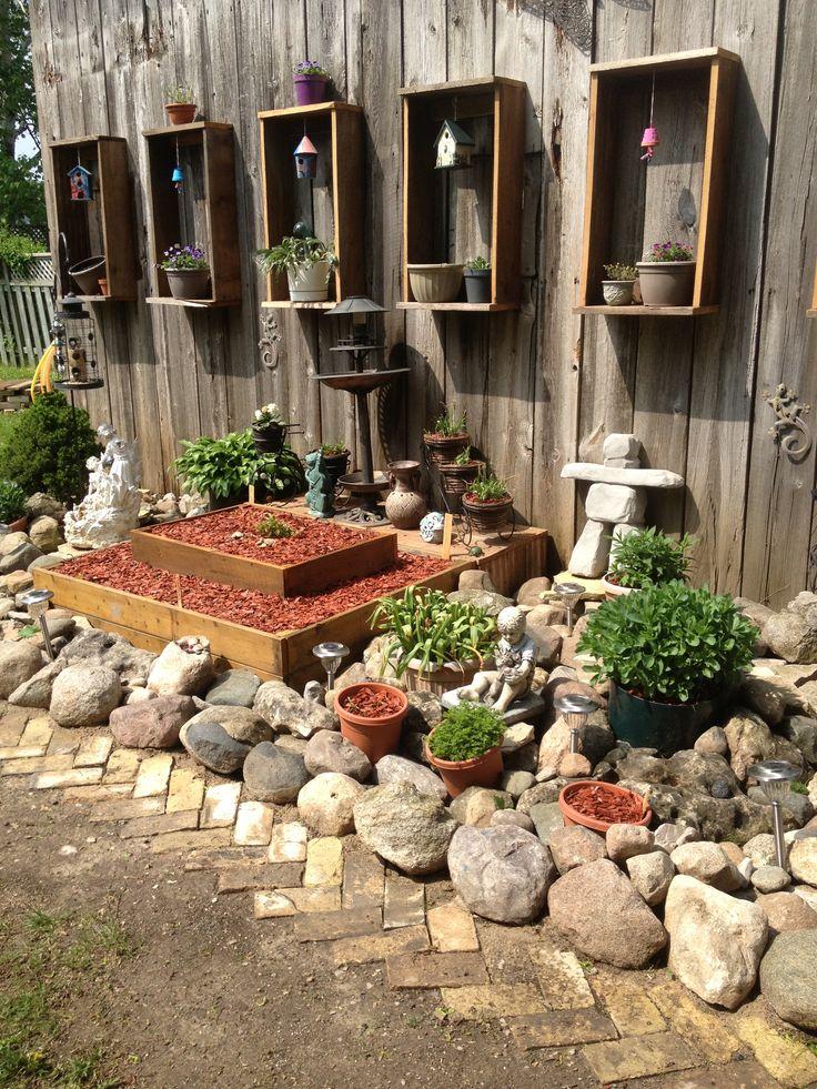 Rockgarden Rock garden ideas Pinterest