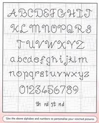 alfabetos en punto de cruz para firmar cuadros - Buscar con Google