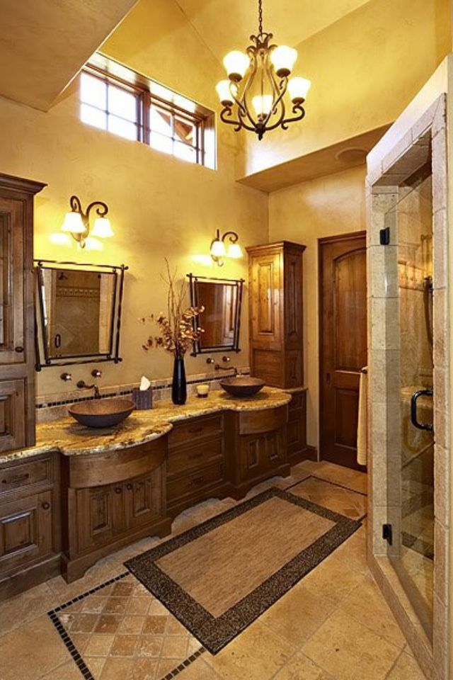 Like the stone tile shower enclosure with just glass door