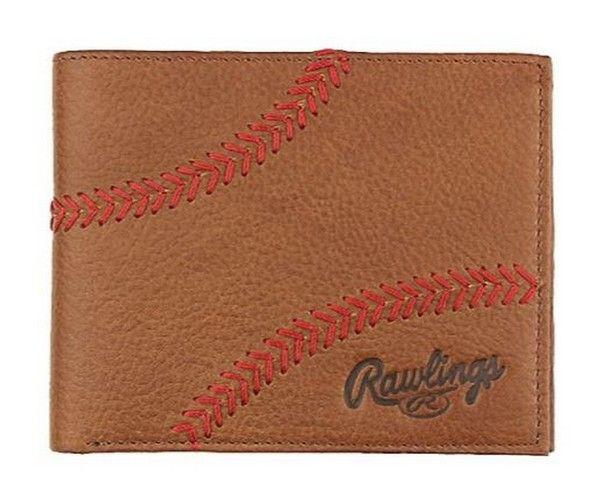 Rawlings Baseball Bi-Fold Wallet Credit Card Home Run Stitch Leather RLG800-202