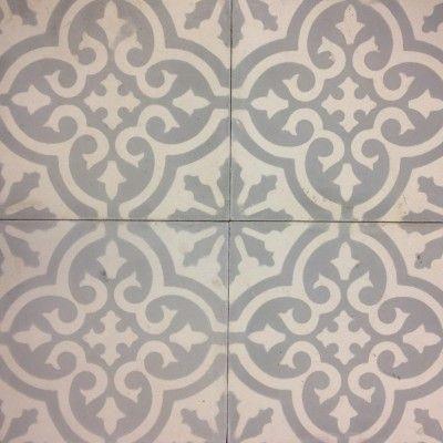 Marockanskt kakel Marrakech ljusgrå vit fyra